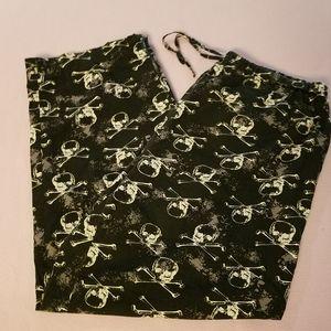 Skull and crossbones sleep pants mens M womens's L